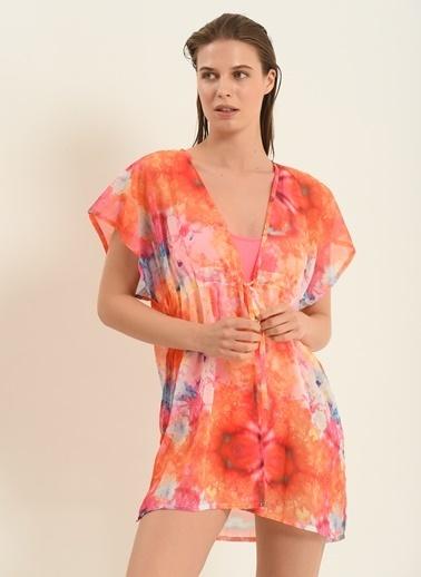 Morhipo Beach Kadın Batik Desenli Kimono MBKSS21KI0003 Oranj